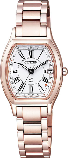 ☆腕時計 シチズン レディース クロスシー ES9354-51A エコ電波時計 ハッピーフライト デュラテクト チタニウム サクラピンク