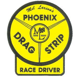 ホットロッド ステッカー PHOENIX DRAG STRIP RACE DRIVER ステッカー