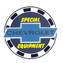 SPECIAL CHEVROLET EQUIPMENT ステッカー裏貼り M サイズ