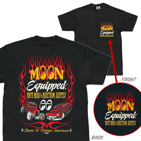 MOON Equipped (ムーン イクイップド) ホットロッド カスタム サプライ Tシャツ