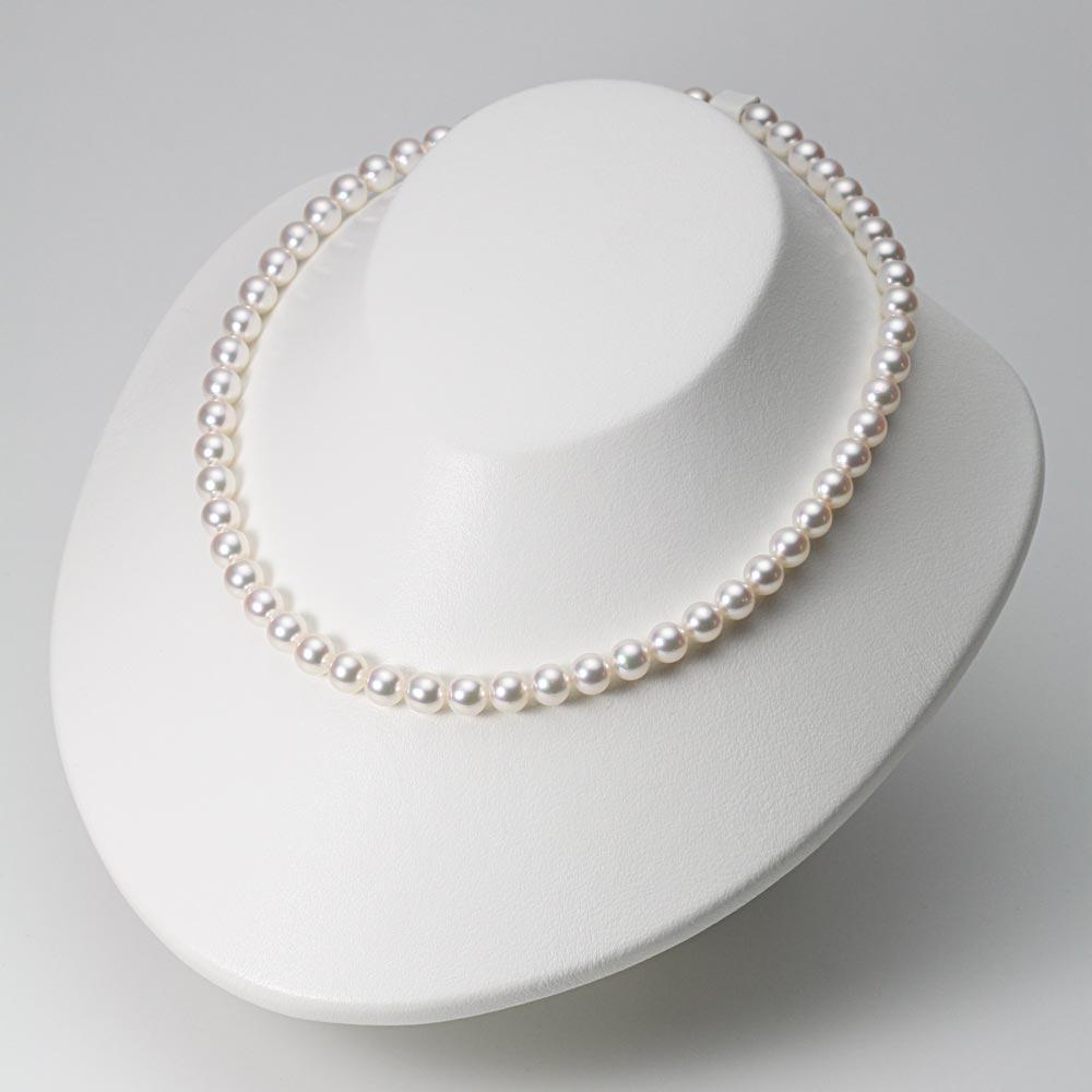 あこや真珠 パール ネックレス 7.0mm アコヤ 真珠 ネックレス & イヤリング セット レディース BRI7075R22WPGY02W0