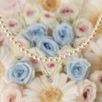 Pearl&Jewelネックレスダイヤモンド(K18WG)
