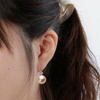 12mm白蝶真珠ピアス(ライトゴールド)
