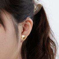 12mm白蝶真珠イヤリング(ライトゴールド)