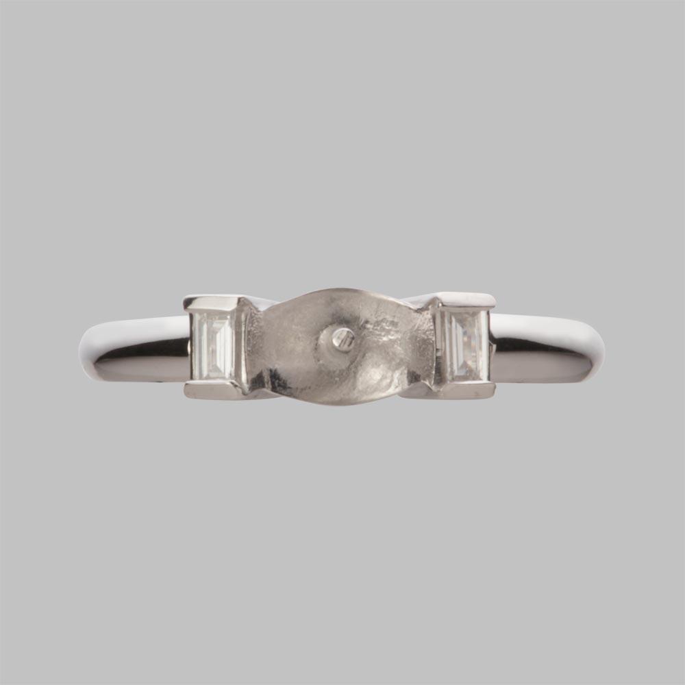 あこや真珠 パール リング 8.5mm アコヤ 真珠 リング PT900 プラチナ レディース HA00085R12WPGD03P8