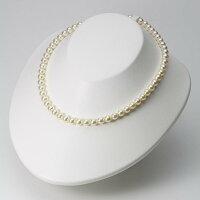 6.5mmアコヤ真珠ネックレス(シャンパンゴールド)