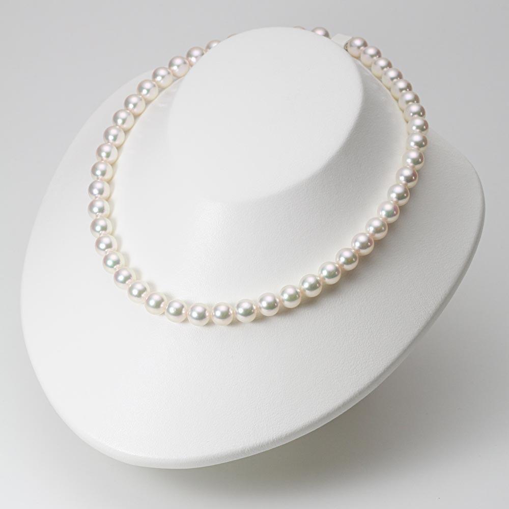 あこや真珠 パール ネックレス 8.5mm アコヤ 真珠 ネックレス レディース CA00085R22WPG00000