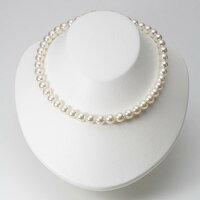9.0mmアコヤ真珠ネックレス(シャンパンホワイト)