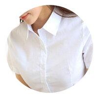 【メール便送料無料】レディーストップスシャツ・ブラウスビジネスオフィスYシャツフォーマルスーツリクルート就活OL事務服無地半袖ホワイト白S/M/L/LL/3L/4L/5L
