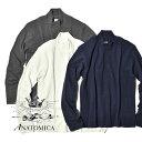 アナトミカ モックネック Tシャツ 長袖 Tシャツ 無地 カットソー メンズ レディース ANATOMICA TEE MOCK NECK TEE L/S MADE IN JAPAN 日本製