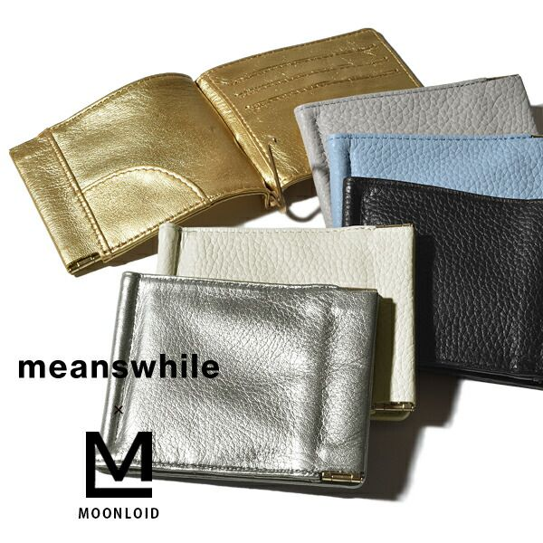 財布・ケース, メンズ財布 MOONLOID meanswhile Leather Money Clip MADE IN JAPAN