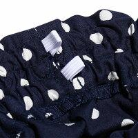 普段着通学着日本製綿100%ドット柄ウエストゴムポケット付きキュロットパンツ