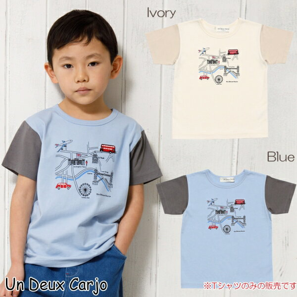 乗り物シリーズロンドンバスモチーフプリントTシャツ