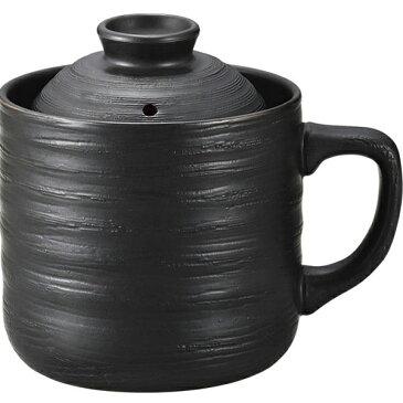 『SMT』数量限定 電子レンジ専用炊飯陶器 楽炊御膳 レンジ用炊飯器 1合炊き T-01 黒色