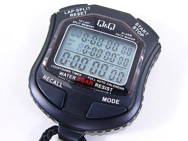 ストップウォッチ HS45 シチズン 5気圧防水 10ラップ/ペースメーカー機能