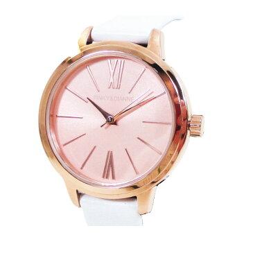 ピンキー&ダイアン 腕時計 革ベルト ホワイト レディース 婦人 PD104PPKWH/1237