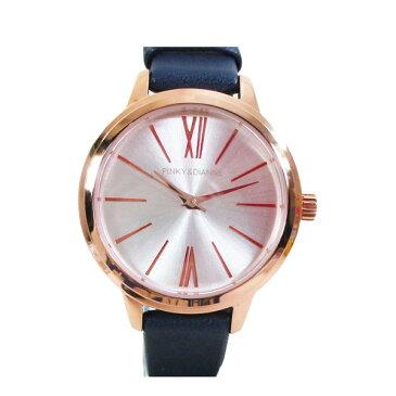 ピンキー&ダイアン 腕時計 革ベルト ネイビー レディース 婦人 PD104PSINV/1220
