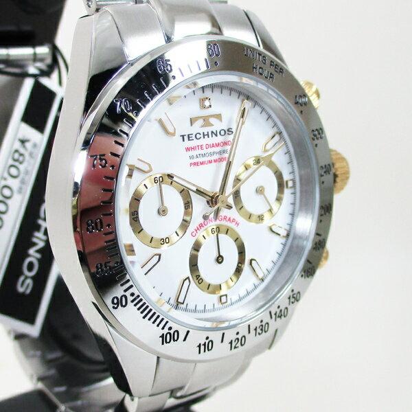 テクノス 腕時計 クオーツ  10気圧防水 クロノグラフ T4683L白文字盤 メンズ 限定プレミアモデル /(北海道沖縄離島除く)