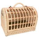 【全国発送可能】ラパン・ルセットゥ ナチュラルラタンバスケット【オリジナル簡易プラスチックスノコ付き】【返品区分B】[ラタン製 キャリーバッグ ペット うさぎ 猫 犬 子犬 志村 どうぶつえん 動物園] その1