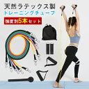 【ポイント10倍 -7/11 1:59】iKuma トレーニングチューブ セット ロング フィットネ...