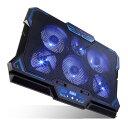 【ポイント10倍 -8/31 23:59】KEYNICE 冷却ファン ノートパソコン 冷却パッド 冷却台 LED搭載 超静音 USBポート2口 USB接続 風量調節可 高度調節可 17インチ型まで対応 6ファン kn-k1738j