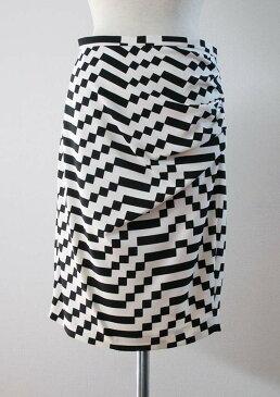 MAXMARA WEEKENDバイカラー サイドギャザーデザインスカート[マックスマーラ]【42(L)size】