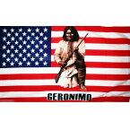 【送料無料】 国旗 アメリカ合衆国 USA 星条旗 アパッチ族 ジェロニモ インディアン ネイティブアメリカン 150cm × 90cm 特大 フラッグ 【受注生産】