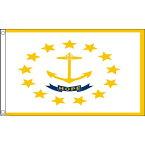 【送料無料】 国旗 アメリカ ロードアイランド州 州旗 150cm × 90cm 特大 フラッグ 【受注生産】