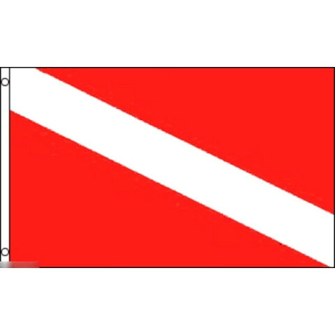 【送料無料】 国旗 スキューバダイビング ダイバーズ 150cm × 90cm 特大 フラッグ 【受注生産】