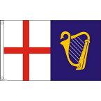 【送料無料】 国旗 イギリス連邦自治領 セント・ジョージ・クロス アイリッシュ・ハープ 150cm × 90cm 特大 フラッグ 【受注生産】