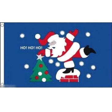 【送料無料】 国旗 メリークリスマス サンタクロース ツリー 150cm × 90cm 特大 フラッグ 【受注生産】