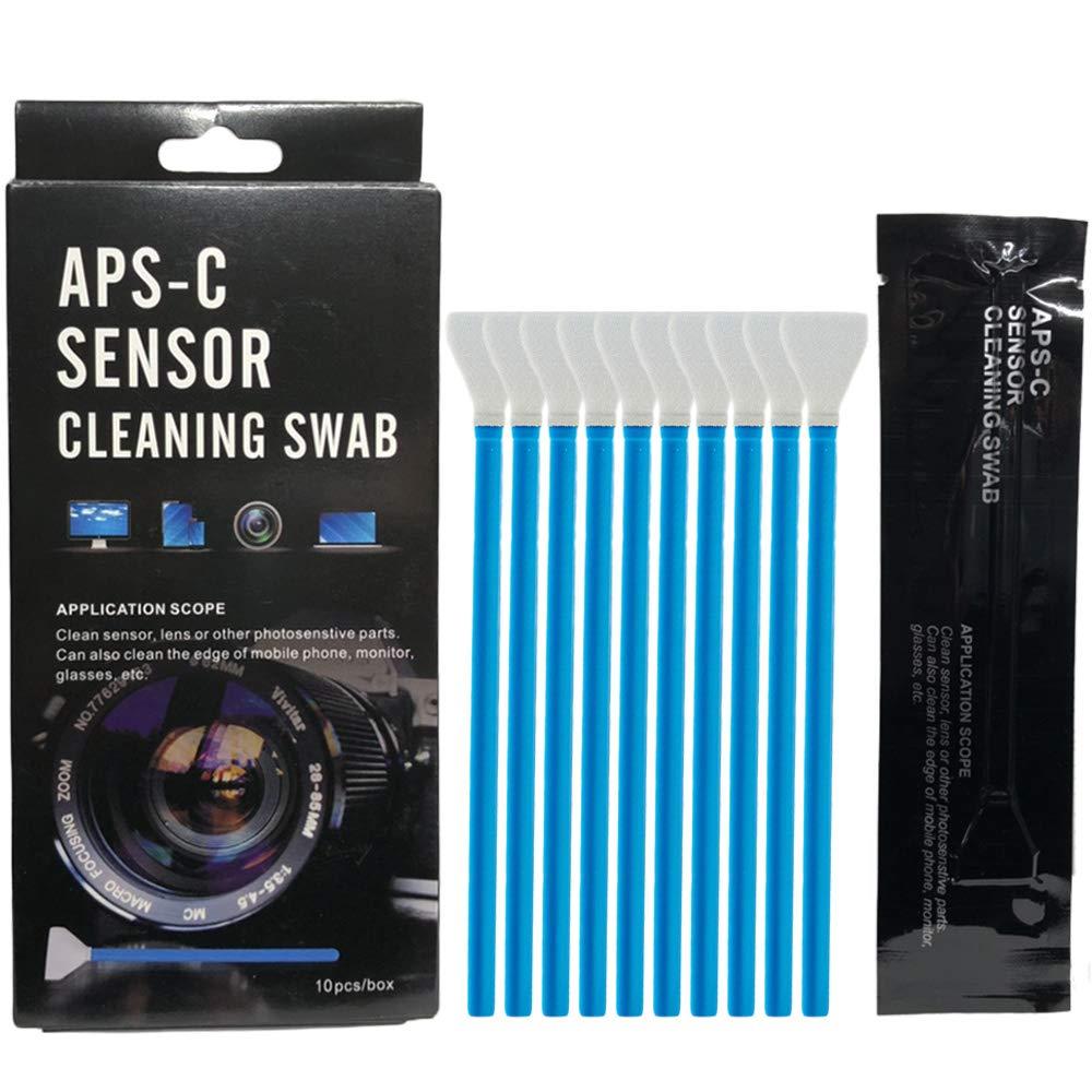 センサークリーニング スワブ 【10本入り】 APS-Cセンサー用 カメラクリーニング 綿棒 清掃用品 一眼レフ ミラーレスカメラ (15mm)