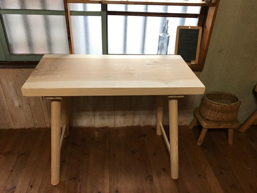 テーブル木製カフェ一枚板テーブル無垢90天然木テーブル★最安値に挑戦中!(高さ70cmまでオーダーOK)