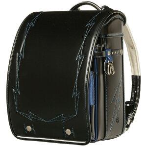 國鞄(コクホー) ランドセル サッカーキッズ キュービー型 ブラック/ブルー SI72757-31
