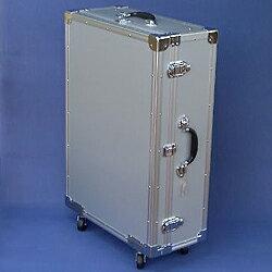 マスミ鞄嚢 アルミトランクケース キャスター付 内寸705×495×蓋60/本体166mm シルバー SC-72