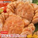 【送料無料】特大毛蟹2尾セット計1.3kg 1尾平均650g...