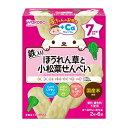赤ちゃんのおやつ+Ca ほうれん草と小松菜せんべい 6袋(ベビーフード7か月〜)