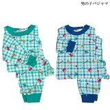 子どもパジャマ【秋、冬物】スムースキッズパジャマ綿100%乗り物柄男の子100〜120cm(3〜8歳)ルームウェア