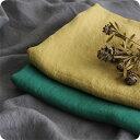 【グレー イエロー グリーン 購入ページ】 生地の森 洗いこまれたベルギーリネンローン 1/60番 50cm単位布 無地 薄手 おしゃれ