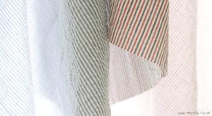 【生地布】【ストライプ】先染め綿麻サッカーストライプシャツ、ブラウス、パジャマなどにおすすめ!