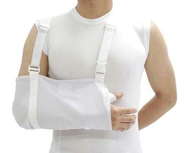 【在庫品】快適アームスリング フリーサイズ・左右兼用【腕つり】【骨折】【脱臼】【腕】【固定】【腕固定】【三角巾】【上腕固定】