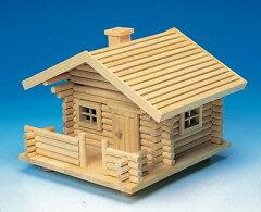 大きなサイズの本格派のログハウスキット。屋根を外して小物入れにできます。ログハウス Eタイ...