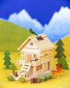 【楽フェス_ポイント10倍】木工 工作キット ログハウス貯金【あす楽】アイスタジオウッズ メルヘンログ 山里ものがたり A83