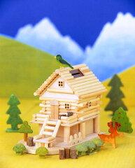 お金を入れると、メロディが流れるログハウス貯金箱♪【夏休み 宿題 工作】山里ものがたり A83...
