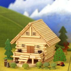 お金を入れると、メロディが流れるログハウス貯金箱♪【夏休み 宿題 工作】山荘ものがたり A81...