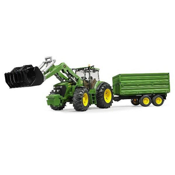 農業トラクターはたらく車ミニカージョンディアーbruderブルーダーJD7930フロントローダー&ハイトレーラー03055