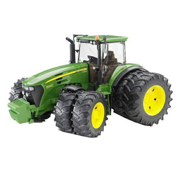 農業トラクターはたらく車ミニカージョンディアーBRUDERブルーダーJD7930Wタイヤトラクター03052