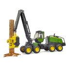 農業林業はたらく車ミニカージョンディアーBRUDERブルーダーJohnDeere1270Gハーベスター(丸太付き)02135