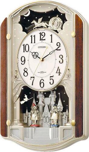 オルゴールからくり時計 (電波掛時計) リズム時計(日本製) 4MN463-RH23 [送料無料]