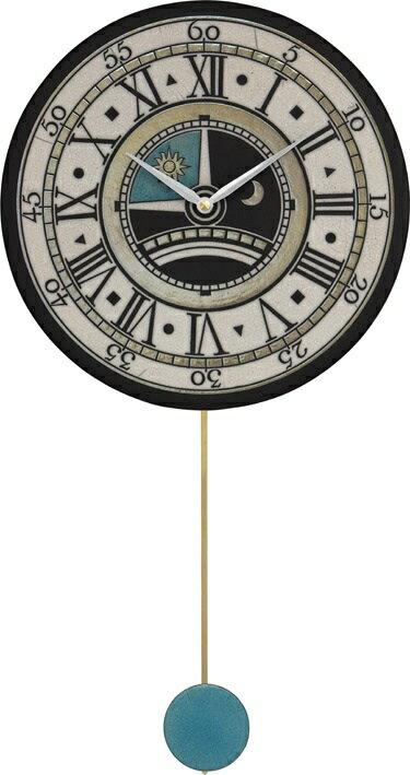 ザッカレラ振り子掛時計(クオーツ)(陶器:イタリア製) ZC180-003[送料無料]:オルゴールと時計の杜のうた